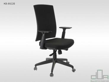 Scaun de birou ergonomic, rotativ KB-8922B negru