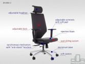 Scaun de birou rotativ, ergonomic, pivotant ZN-805-C Antracit