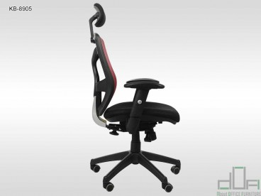 Scaun de birou ergonomic, rotativ KB-8905 rosu