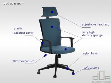 Mai multe despre Scaun de birou rotativ, ergonomic, pivotant CLAYTON