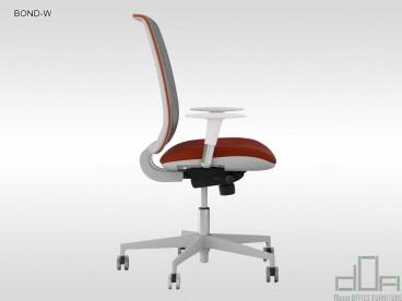 Scaun ergonomic de birou BOND WHITE