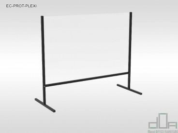 Ecran protectie plexiglass anti COVID-19 pentru birouri, receptii